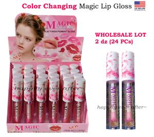 Color Changing Shimmer Magic Lip Gloss - WHOLESALE LOT 2 dz (24 PCs)