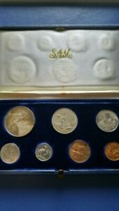 1966 SOUTH AFRICA Proof Set of 7 Coin in Original Box
