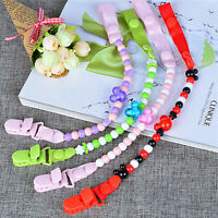 Baby Pacifier Clip Chain Dummy Pacifiers Leash Strap Beads Teether Toy NTA Cw