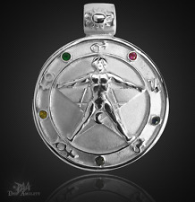 Agrippa Pentagramm Amulett aus 925 Sterling Silber