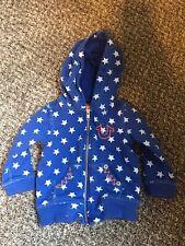 Vintage True Religion Blue Baby Zip Up Hoodie Size 6-12 Months