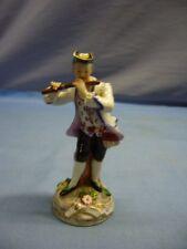 alte Porzellanfigur Flötenspieler Flöte Musikant Barockstil Ludwigsburg (1)