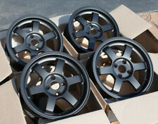 Used Set 15X6.5 +38 Rota Grid 4X100 Rims Fits Miata Integra Civic Delso