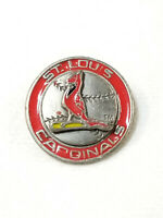 Vintage Pewter 1990s Reproduction of 1960s St. Louis Cardinals Bird on Bat Pin