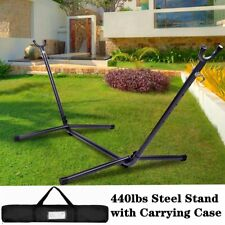 9Ft 440Lbs Hammock Stand Heavy Duty Portable with Carrying Case Indoor Outdoor