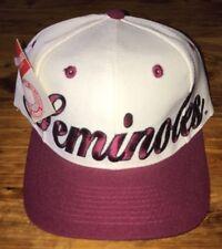 NWT Vintage Florida State Seminoles Hat Snapback NU Image Script Free Ship