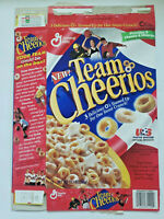GENERAL MILLS TEAM CHEERIOS EMPTY CEREAL BOX 1997