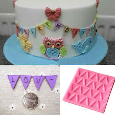 "Letter Flag Lace Silicone Mold Cake Decos Cookies 414103"" Baking Mould