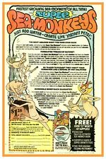 "SEA MONKEYS  COMIC BOOK AD - POSTER 12"" X 18"" REPRODUCTION"