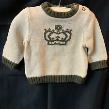 Old Navy Boy Prince Crown Sweater 3-6 Months Nwt
