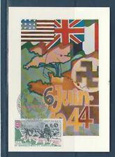 carte  1er jour 30e anniversaire  débarquement en Normandie 14 Arromanches 1974