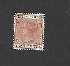 CEYLON, QV  1899  DEFINS, 2d  SG 256 GOOD M/MINT, CAT £5