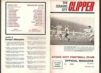 1968 FOOTBALL PROGRAMME STOKE CITY v MANCHESTER UNITED DIVISION 1