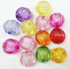 Lot 10 Perle Acrylique 14mm Citrouille Halloween potiron Couleur Mixte