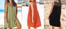 Ex NEXT Crochet Panel Summer Dress ~ Black, Sage, Burnt Orange Sizes 8 10 & 12