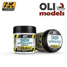 Diorama Series: SNOW MICROBALLOONS TEXTURE 100ml Bottle - AK Interactive 8010