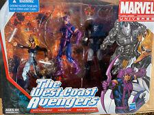 """Marvel Universe 3.75"""" The West Coast Avengers Set Hawkeye WarMachine Mockingbird"""