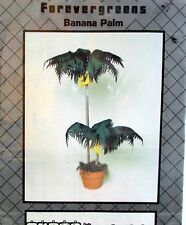 Home Accent Pattern Vtg 80s Banana Palm Tree  5 ft tall abstract faux plant