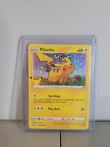 Pikachu 25th Anniversary Stamped General Mills Promo Card Pack Fresh