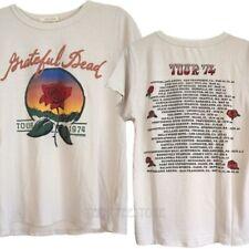 Junk Food Grateful Dead Tour '74 Rose Destroyed Finish Soft Tri-Blend T-shirt NW