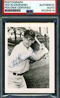 Ted Kluszewski PSA DNA Coa Hand Signed Vintage Original 1950`s Photo Autograph