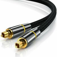 Toslink Cable Fiber Optic Digital Audio Optical SPDIF Cord Dolby DTS for TV DVD