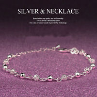 New Women Charm Silver Beaded Chain Anklet Bracelet Barefoot Sandal Foot Jewelry