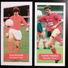 Complete set of 2 SWINDON TOWN Score UK football trade cards DON ROGERS HODDLE