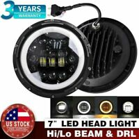 7 Inch Round LED Headlight Halo Angle Eyes For Jeep 97-2017 Wrangler JK LJ TJ US