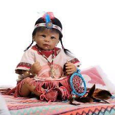 Reborn American Indian Baby Dolls Lifelike Realistic Doll Toys Babies Bebe Gifts