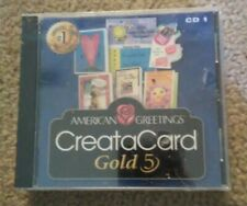 AMERICAN GREETINGS CREATACARD GOLD 5 BRAND NEW SEALED FOR WINDOWS PC 2 DISC SET