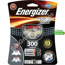 Energizer Vision HD Focus LED Headlight 300 Lumen Head Torch Lamp 3 AAA Battery