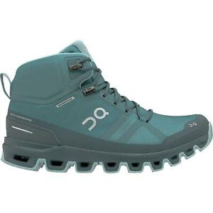 ON Womens Cloudrock Waterproof Hiking Boots - Storm - Wash