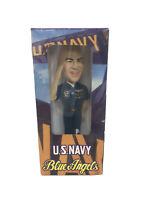 "2006 U.S. Navy Blue Angels AJ Fratto 7.5"" Bobble Head Doll GUC In Box"