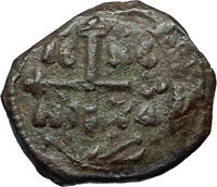 CRUSADERS of Antioch Tancred Ancient 1101AD Byzantine Time Coin CROSS i66265