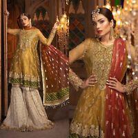 Pakistani Indian Maria B Designer Suit Wedding Dress Collection Shalwar Kameez