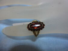 585er Gelbgold Ring m Granate Ringgroße 47 Ringkopf1,71x1,09 Gewicht 3,82 gramm