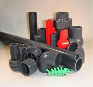 16 mm PVC Solvent Weld PRESSURE Pipe Fittings, marine, aquarium, aquatics.