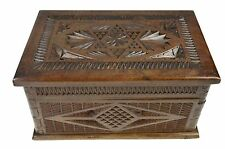 Antique Frisian Chip Carved Dovetailed Jewellery Chest, Dutch.