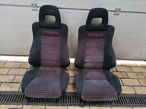 @RARE@ red stitching Front Seats Seat Honda CRX JDM EDM EE8 EF8 ED9 SI US 88-91