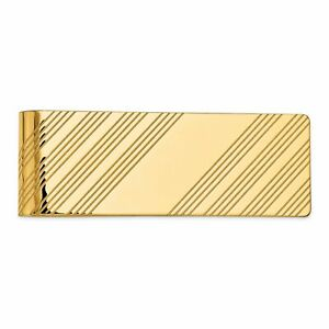 14K Yellow Gold Money Clip Mens Jewelry Polished