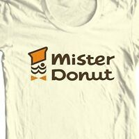 Mister Donut T-shirt retro vintage 1970's 1980's diner 100% cotton graphic tee