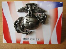 USMC Insignia Badge Screw Visor Hat Marine Corps Army Navy Marines Vietnam WK2 S