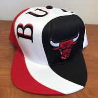 Chicago Bulls Hat Snapback Cap NBA Basketball Mitchell Ness Retro Hardwood Swirl