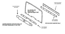 1987-1995 Jeep Wrangler Hard Top Liftgate Trim Kit Hardware