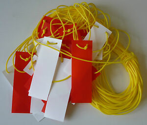 Pendant marker bunting, Caution bunting red/white 26mtr JSP HDM000-305-400