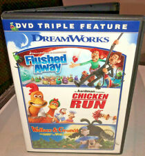 Flushed Away/Chicken Run/Wallace and Gromit Dvd, 2014, 3-Disc Set