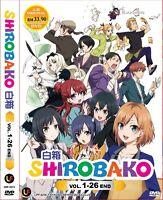 DVD Japan Anime SHIROBAKO Complete Series (1-24 end)English Subtitle All Region