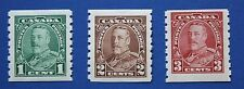 CANADA (#228-230) 1935 King George V MNH singles set