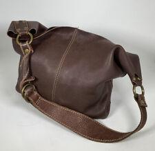 Lucky Brand Dark Brown Leather Hobo Purse